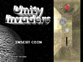 Unity Invaders title screen