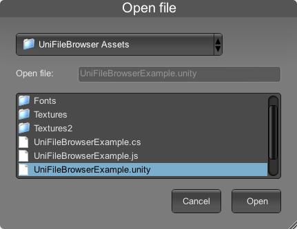 Starscene Software - Unity Utilities - UniFileBrowser